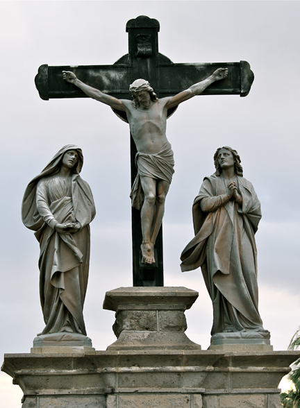 Jesus on Cross by Brandi Fitzgerald