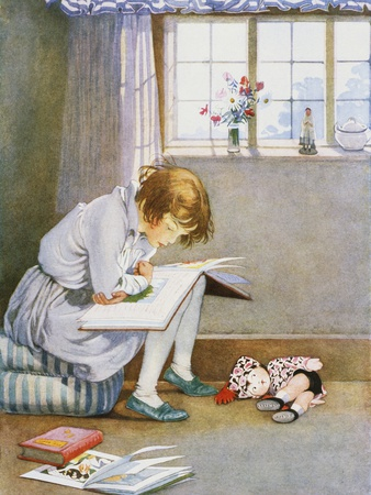 A Girl Reading, by Honor C. Appleton